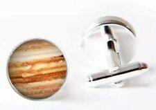 Gift Bag + Planet Jupiter Silver Tone Space Cufflinks Cuff links Planets 925 A11