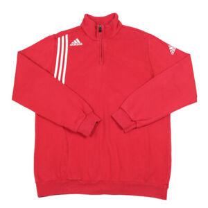ADIDAS 1/4 Zip Sweatshirt | Large | Retro Jumper Pullover Collared Vintage Retro