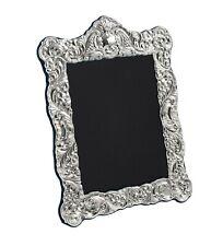 "CARRS - Sterling Silver Photo Frame Antique Ornate Design - 7"" x 5"""