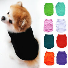 Pet Solid Basic Clothes Cotton Dog Vest Summer T-Shirt Puppy Simple