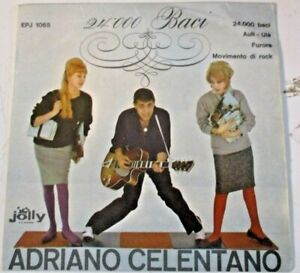 "ADRIANO CELENTANO""24000 BACI "" 1960 JOLLY EPJ 1065 raro EP italiano 4 brani"