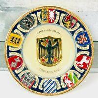 "VTG A. Thewalt Ceramic ""Bundes-Republik-Deutschland Coat of Arms Plate W.Germany"