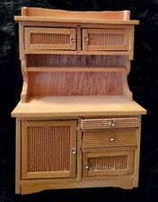 Dollhouse Miniatures Furniture WOOD KITCHEN OAK Cabinet