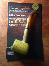 "Missouri Meerschaum Corn Cob Pipe UnSmoked BENT Stem NEW IN PACK 6"" NEW"