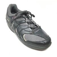 Women's MBT Mila Walking Shoes Sneakers Size 8-8.5 M US Black Gray Leather M14