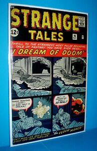 STRANGE TALES #96 High Grade VF+ Marvel Horror-SciFi Comic off-white/white 1962