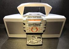 RARE SONY ZS-D55 Portable Boombox Stereo CD Player Cassette Tape FM Radio