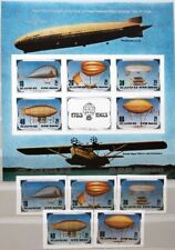 KOREA 1982 2301-05 U Block 134 U 2249 Luftfahrt Aviation Airships Luftschiff MNH