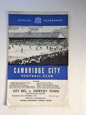 Cambridge City reserves v Chertsey Town 1964-65 (Metropolitan League)