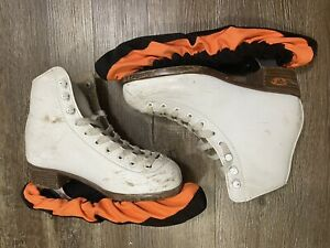 Riedell White Leather Womens Kids Unisex Ice Skates Size 2 - 12W