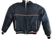 Yamaha Maxim Wear Mens Black Nylon Insulated Snowmobile Bomber Jacket Large Vtg