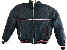 YAMAHA Maxim Wear Men Black Red Nylon Insulated Snowmobile Bomber Jacket Large