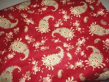 WAVERLY PRELUDE PAISLEY CRIMSON RED ROBIN'S EGG BLUE FABRIC 54 X 344 (9.55YDS)