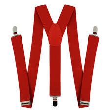 RED BRACES MEN'S GANGSTER 20'S 40'S FANCY DRESS CLOWN SUSPENDERS COSTUME
