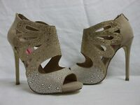 Betsey Johnson Size 8 M Nola Natural Open Toe Heels New Womens Shoes NWOB