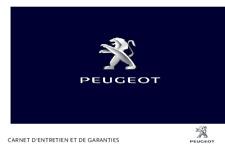 Peugeot  Carnet D'entretien et de Garanties 2016 FRANÇAIS