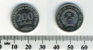 Vietnam 2003 - 200 Dong Nickel Clad Steel Coin - National emblem