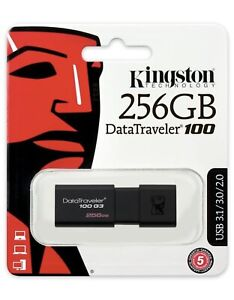 Kingston DT100G3/256GB DataTraveler 100 G3 USB 3.0 Flash Drive, 256 GB, Black