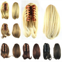 26cm Short Straight Claw Clip In Women Girl Small Hair Ponytail Clip