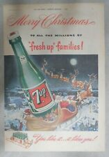 7-Up Ad: Merry Christmas ! from 1952  Size: 11 x 15 inches