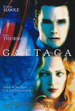 GATTACA Movie POSTER 27x40 B Ethan Hawke Uma Thurman Jude Law Gore Vidal Alan