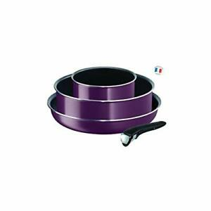 Tefal Ingenio Essential L2019302 4-Piece Cookware Set Purple Byzantium