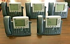 LOT of 5 CISCO 7961 Unified IP Phone CP-7961G VoIP Business PoE UCS Lab - READ