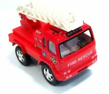 """Brand New 3.5"""" Kinsfun Fire Rescue Truck Diecast Model Toy Pull Action Play Fun"""
