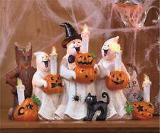 Halloween Ghost Figures w/5 LED Candles Centerpiece Table Décor 12.5x8x4 NIB