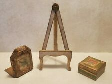 Vintage Italy Florentine Florentia Display Easel Stand Picture Bookend Box Lot