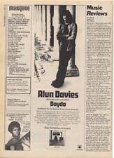 Alun Davies Cat Stevens Daydo LP advert Time Out cutting 1972