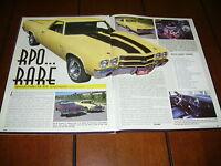 1970 CHEVROLET EL CAMINO SS 454  ***ORIGINAL 2001 ARTICLE***