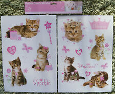 Baby Children Kid Girl Cat Butterfly Flower Heart Wall Sticker Decal Bedroom