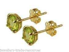 9ct Yellow Gold 5mm Round Peridot Studs Earrings