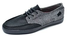 Reef DECKHAND 2 Black Gray Lace Boat Shoes Men's 8 - NEW