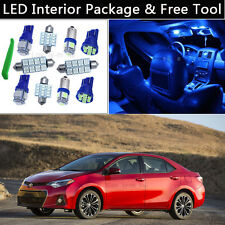 6PCS Blue LED Interior Car Lights Package kit Fit 2003-2013 Toyota Corolla J1