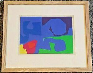 Patrick Heron - January 1973: 19 - Framed Print & Original Signed Letter