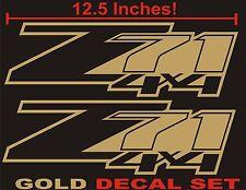 Z71 4x4 Truck Bed Decals, Gold Metallic (Set) for Chevrolet Silverado