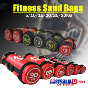 10 20 30KG Sand Bags Strength Training Fitness Power Exercise Boxing Weights AUS