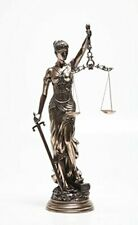 """Lady Justice Blind Scale of Justice Cast Resin Statue 12"""" Gift Law Lawyer Unique"""