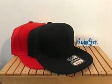 Set of 2 LOGA Blank Snapback Hats Red/Black Brand New with tags One Size