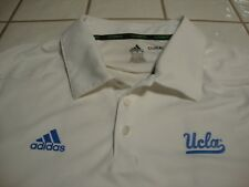 Adidas Adizero UCLA Bruins Athletic Golf Polo Shirt White Tennis S/S Mens XL
