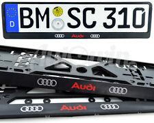 Audi Q3 Q4 Q5 Q7 Standart License Frames Plates UK NEW 2pcs.