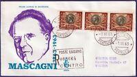 1963 - FDC Venetia - Mascagni Lire 30 - Viaggiata per raccomandata - n.206It