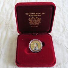 GHANA 2002 QEII GOLDEN JUBILEE GOLD PROOF 500 SIKA