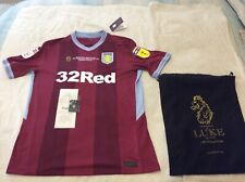 Aston Villa Luke Play Of Shirt 2019, BNWT, Only 400 Produced, Villa Shop Receipt