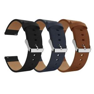Leather Wristband Bracelet Band Strap Belt for Fitbit Versa Sport Smart Watch