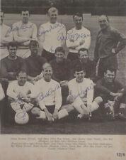 England 1966 World Cup 12 signed Bobby Moore Alf Ramsey Banks Charlton Ball COA