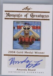Amanda Beard AUTO Olympics #50/50 Leaf 2011