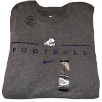 Nike Dri-Fit Cotton TCU Horned Frogs NCAA Officially Licensed Tee Shirt